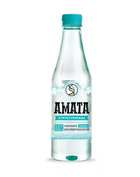 Вода Аматеа 0,5л Структурирана Трапезна вода