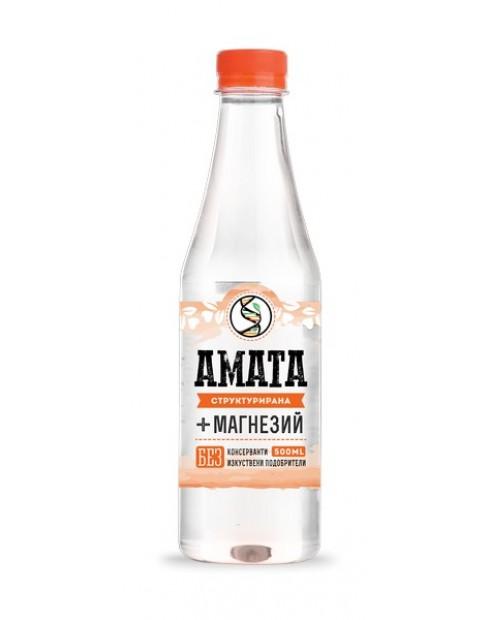 Вода Аматеа 0,5л Структурирана трапезна вода + Магнезий