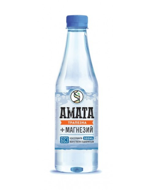 Вода Аматеа 0,5л Трапезна вода + Магнезий