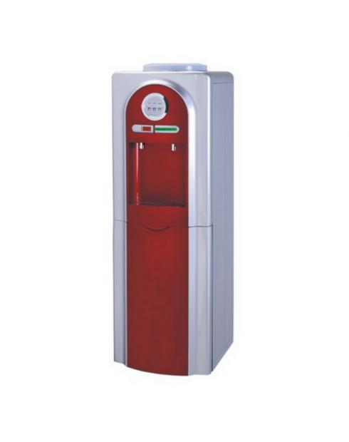 Диспенсър за вода W-23 електронно охлаждане Червен
