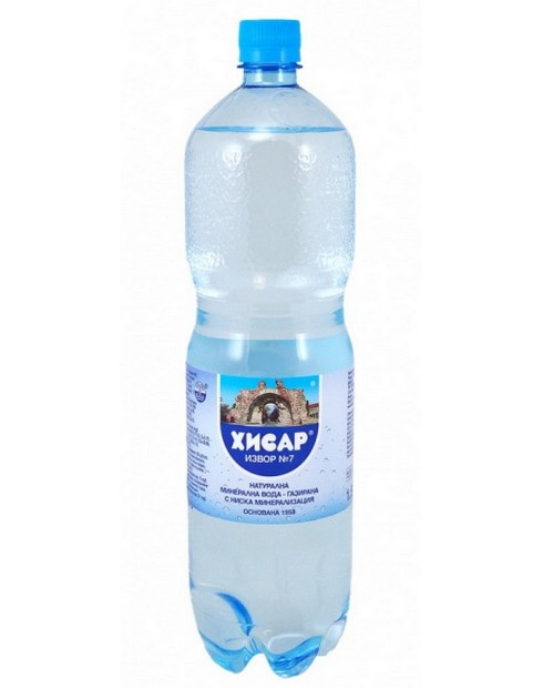 Минерална вода Хисар 1,5л извор № 7 Газирана